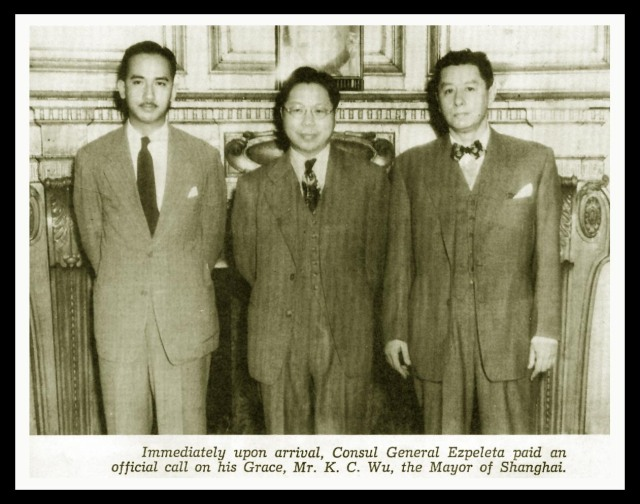 Manila swagger as seen through the eyes of Mariano Ezpeleta (the guy with the sweet bow tie).Source: Memoirs of an Ambassador (Mariano Ezpeleta, 1973).